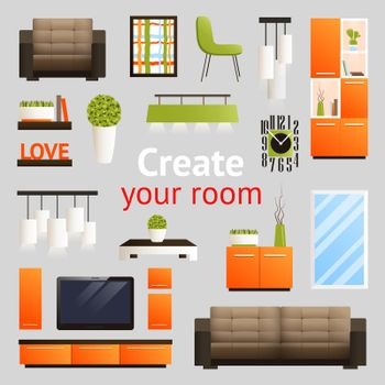 Furniture Objects Set