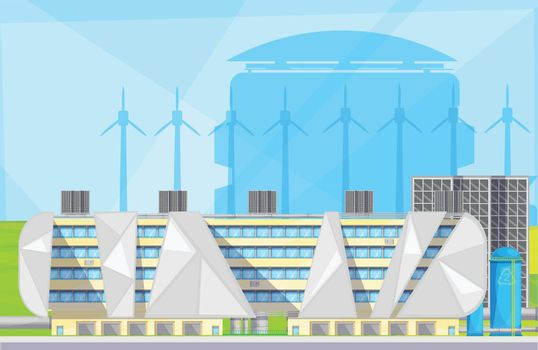 Eco Waste Plant  Facilities Flat Poster