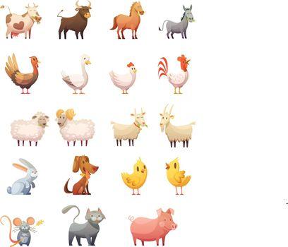 Farm Animals Cartoon Set
