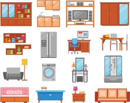 Furniture Isolated Icon Set