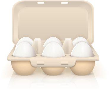 Eggs In Box Illustration
