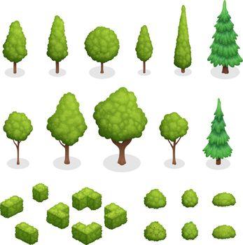 Park Plants Isometric Set