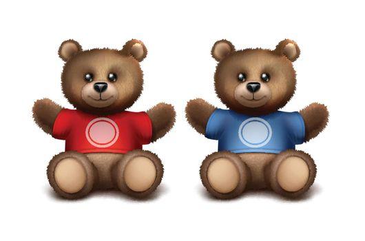 Vector gift bears