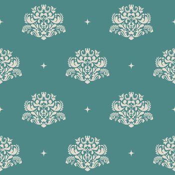 Floral royal vintage background pattern