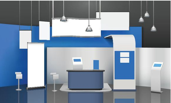 Exposition Stand Mockup Composition