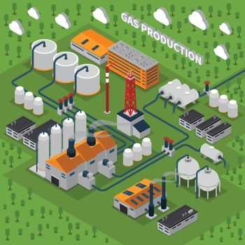 Gas Production Isometric Composition