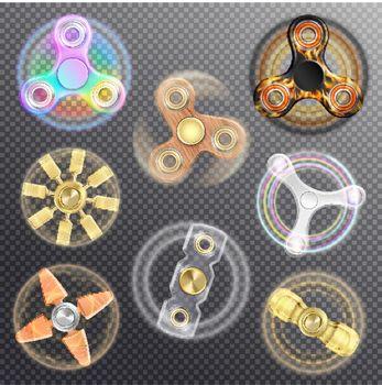 Fidget Spinners Transparent Set