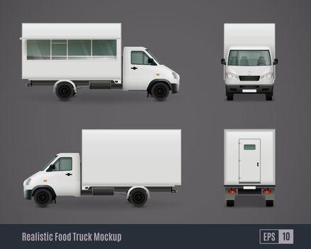 Food Motor Van Mockups