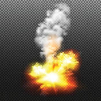 Explosion Transparent Illustration