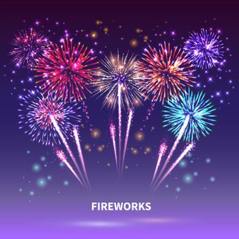 Fireworks Show Background Composition