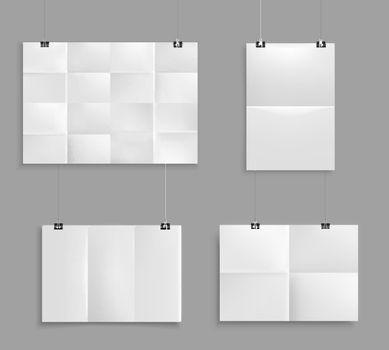 Folded Paper Mockup Set