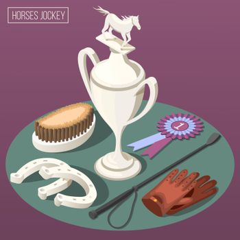 Equestrian Sport Isometric Composition
