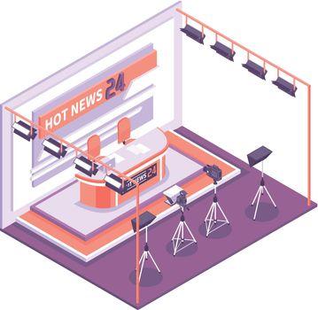 Tv Studio Isometric Concept