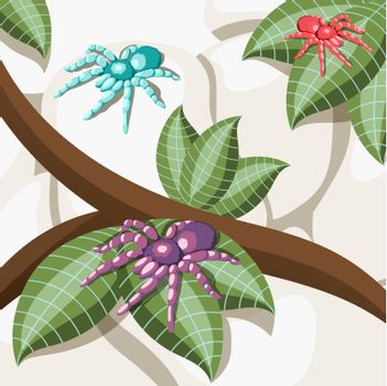 Exotic Insect Isometric Background