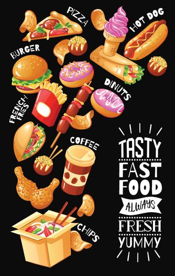 Fast Food Cafe Poster