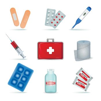 First Aid Kit Realistic Set