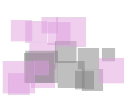 Abstract grey violet squares with white background