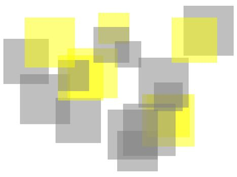 Abstract grey yellow squares with white background
