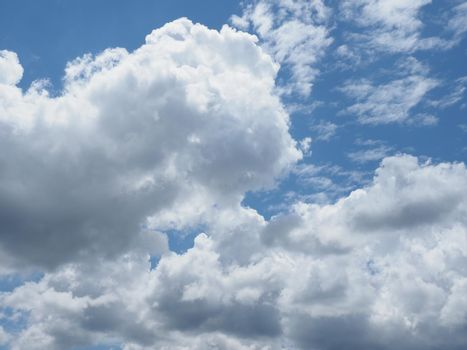 dramatic blue sky with clouds background