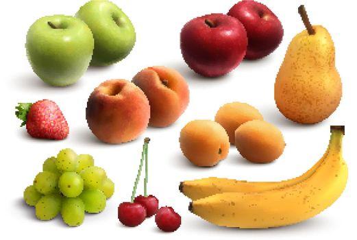 Fruits Realistic Set