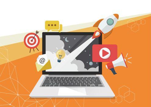Digital marketing concept poster design