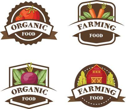 Farming Organic Food Emblems