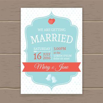 Flat Wedding Invitation