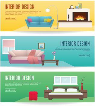 Furniture Horizontal Banners Set