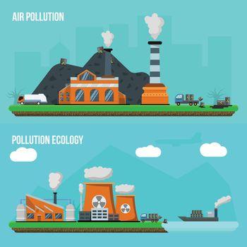 Environmental Pollution Banner Set