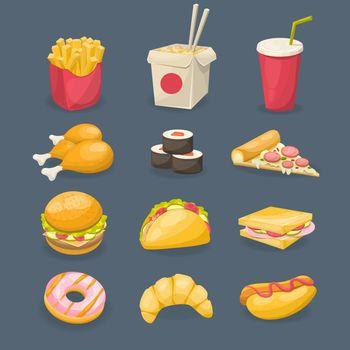 Fast Food Decorative Icons