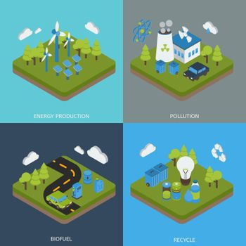 Ecology Isometric Compositions