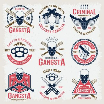 Gangster Colored Emblems