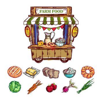 Farm Food Outdoor Shop Composition