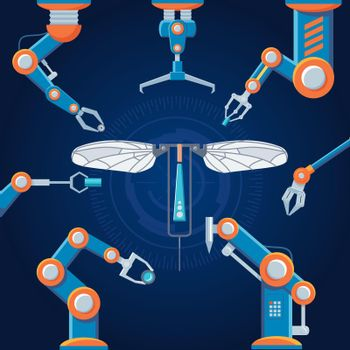Engineering Manufacturing Robot Set