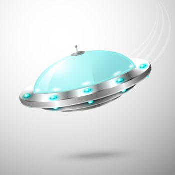 Flying ufo emblem