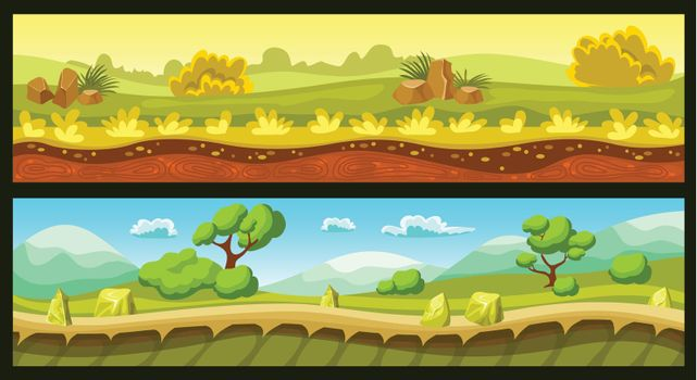Game Landscapes Horizontal Banners