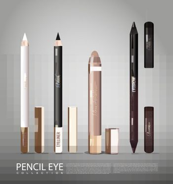 Fashionable Cosmetic Products For Eyes Set