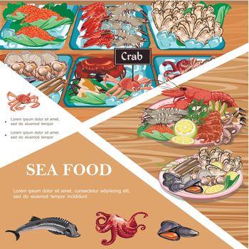 Flat Seafood Template