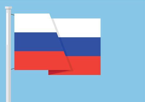 Russia flag with copyspace