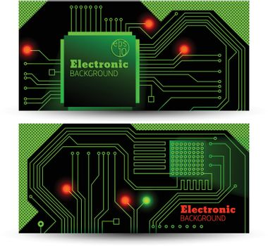 Electric board banners set