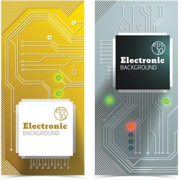Electronic Board Banners Set