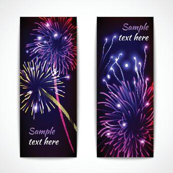 Fireworks Banner Vertical