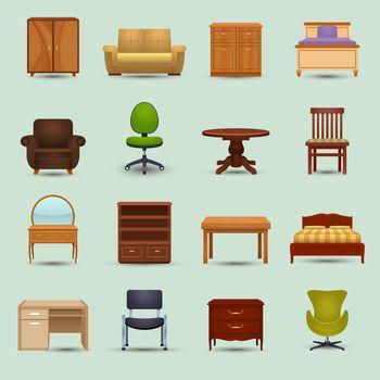 Furniture Icons Set