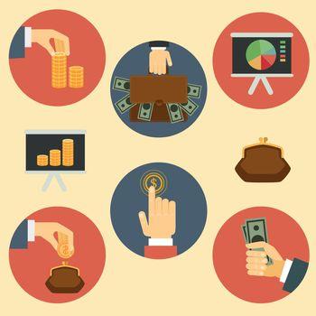 finance, money and analytics illustrations