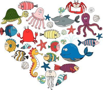 fish and marine animals