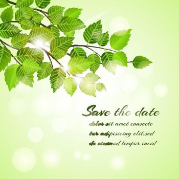 Fresh spring Save The Date card