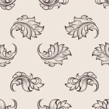 Engraved floral pattern