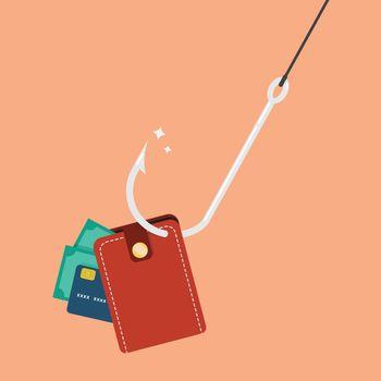 Fishhook with wallet