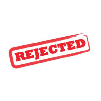 Rejected stamp sign
