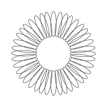 round openwork ornament. Decorative round frame. Elegant design
